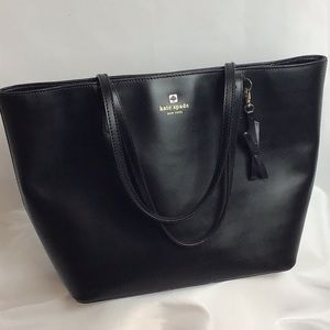 Kate Spade - Black Tote With Pink Logo Lining